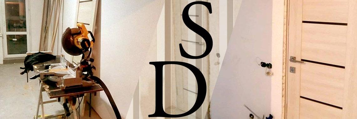 Фотографии установки дверей в шпоне беленый дуб